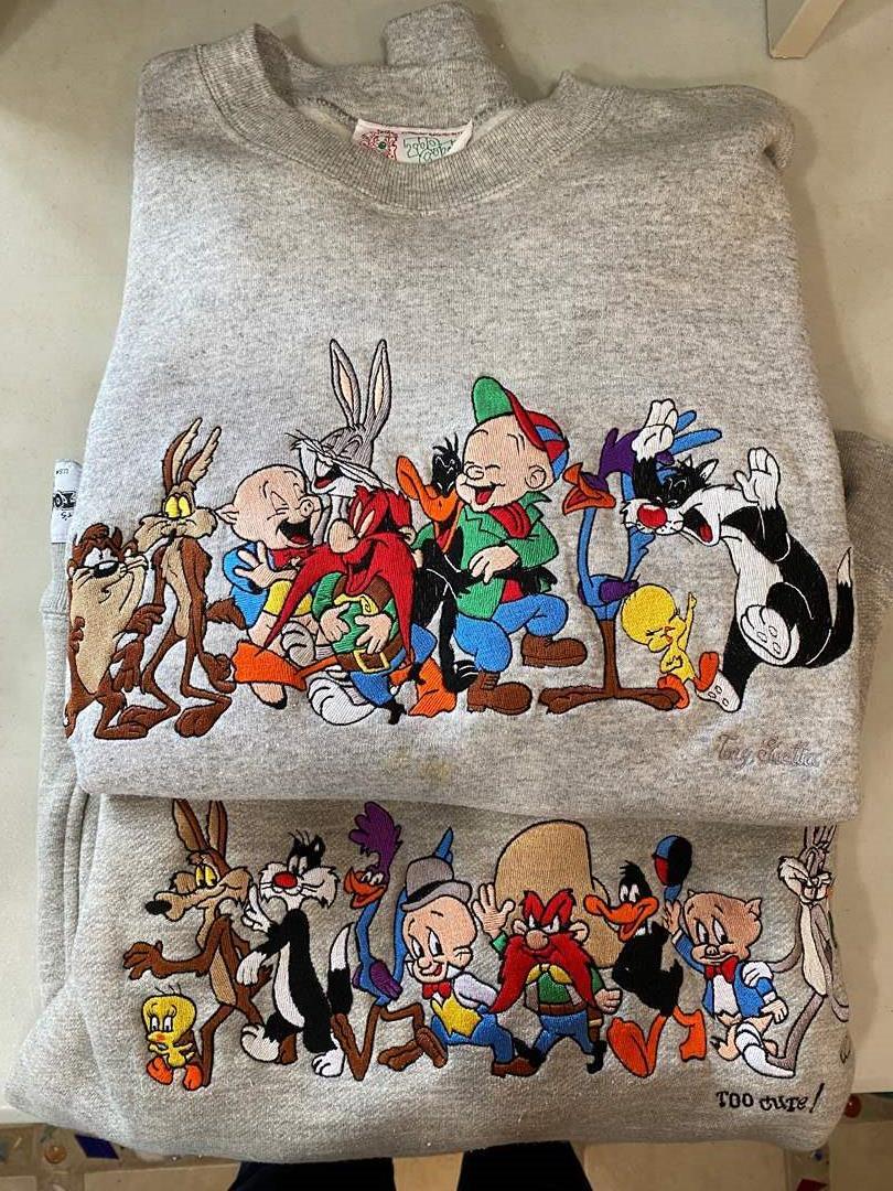 Lot # 73 - Looney Tunes Embroidered Sweatshirts (main image)
