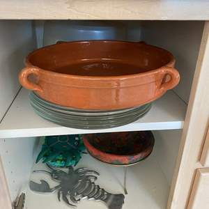 Auction Thumbnail for: Lot # 49  - Cupboard Contents - Pyrex Plates and More