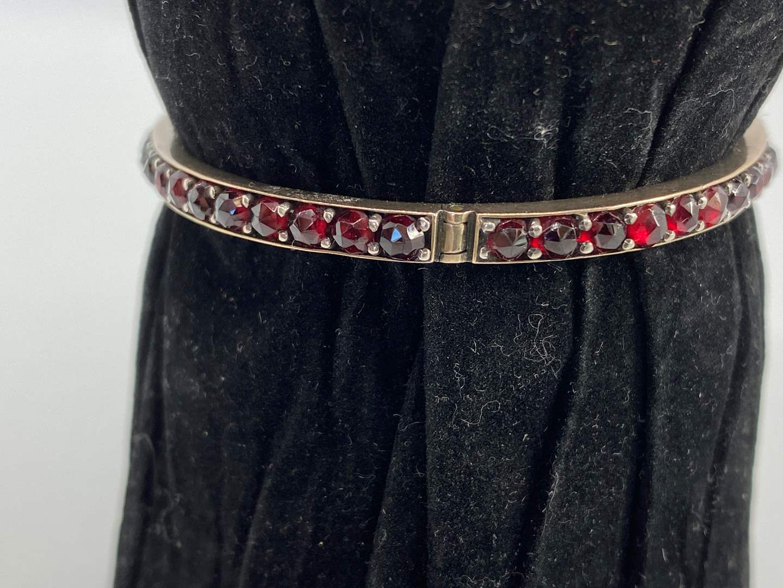 Lot # 10 - Antique Garnet Bracelet  (main image)