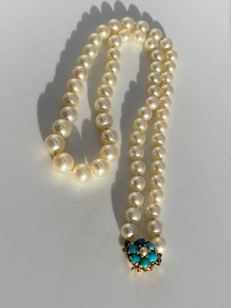 Lot # 13 - Exquisite Natural Pearls w/ 14k Gold Clasp (main image)