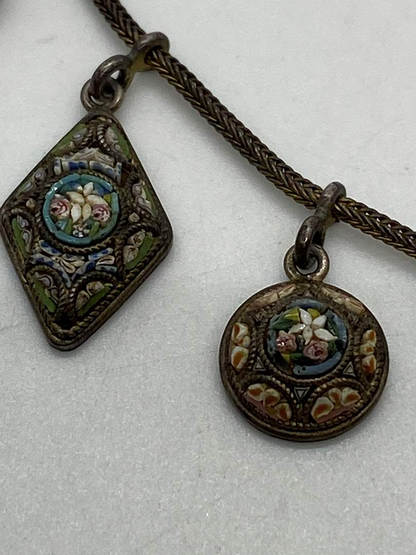 Lot # 25 - Antique Mini Mosaic Necklace (main image)