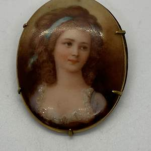 Auction Thumbnail for: Lot # 42 - Victorian Portrait Brooch