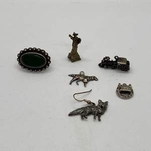 Auction Thumbnail for: Lot # 55 - Sterling Charms (15.9g) & Misc Pieces