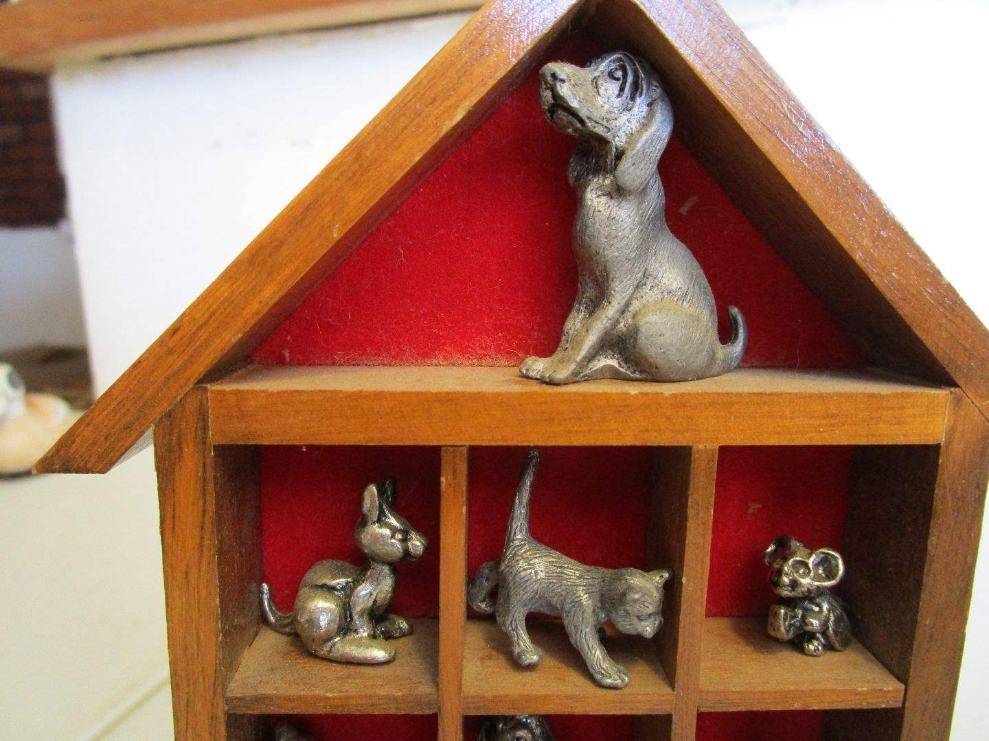 Lot # 63 - Pewter Figurines Animals & Clowns (main image)