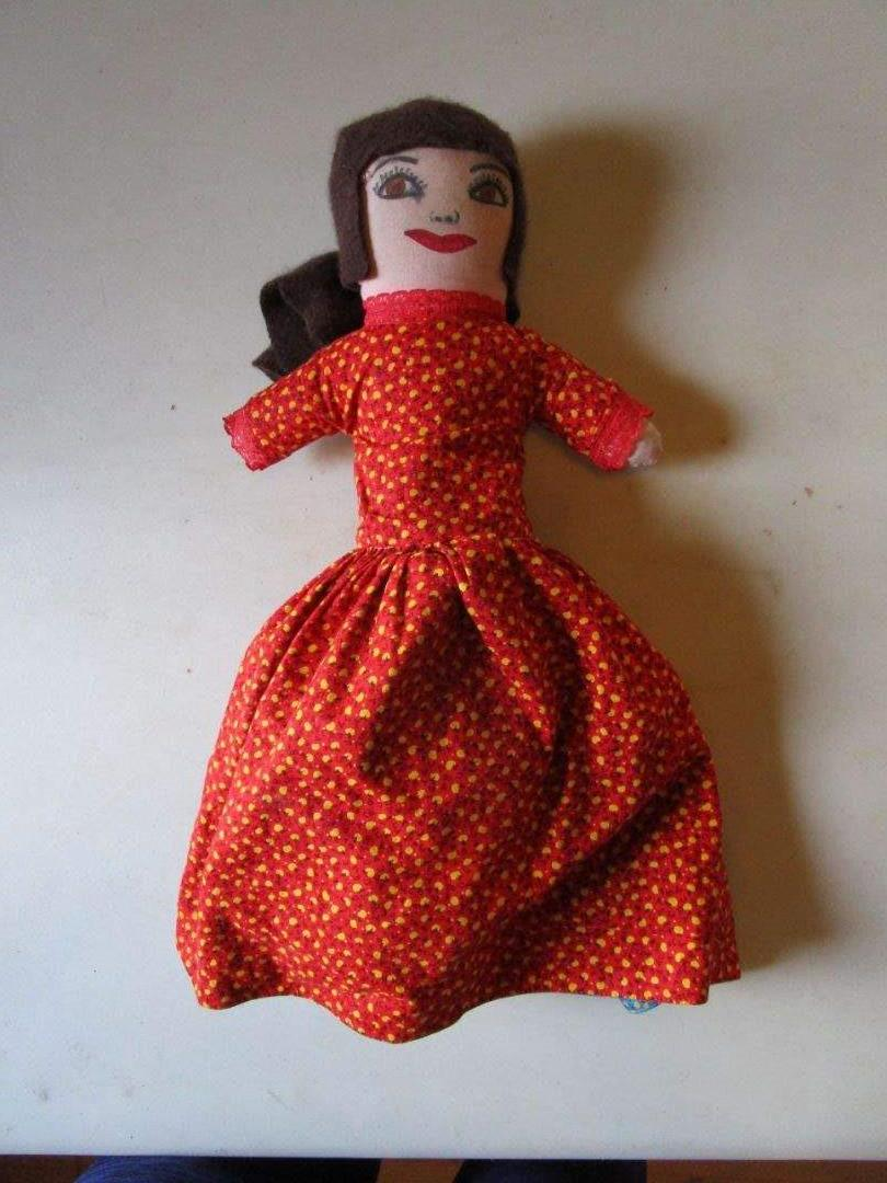 Lot # 16 - 3 Face Vintage Flip Rag Doll - Little Red Riding Hood (main image)