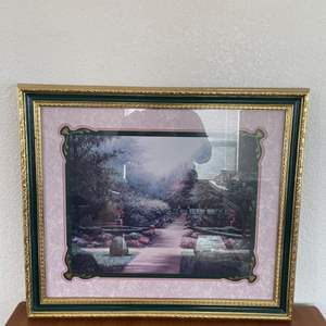 """Lot# 30-""""Natures Glory"""" Framed Picture/Home Interiors """"Garden Path"""" Framed Picture/Framed Picture"""