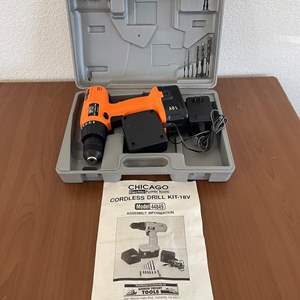Lot# 37- Chicago Cordless Drill Kit-18V