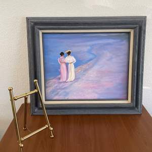 Lot# 39-Framed Picture and Mini Display Easel