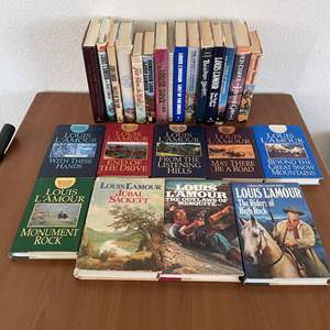 Lot# 45- Louis L' Amour hardcover book collection