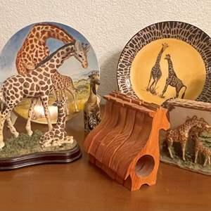 Lot# 56- Giraffe Home Decor