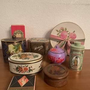 Lot# 63-Vintage Tins