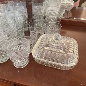 Lot# 70-Vintage Anchor Hocking Wexford Crystal Collection