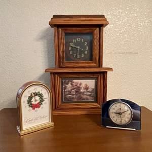 Lot# 73- Vintage Clocks