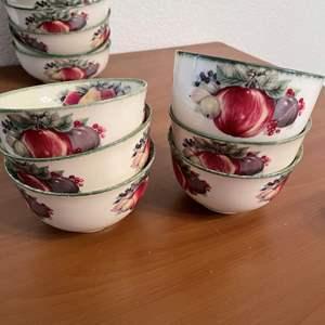 "Lot# 76- Apple ""Feel Porcelain"" Bowls"