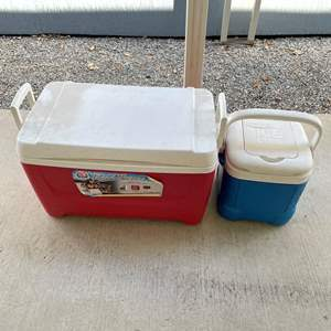 Lot# 109- Large/Small Ice Chest