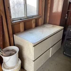 Lot# 111- Garage Work bench with Storage