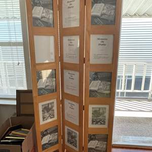Lot# 117- Free Standing Wooden Picture Display, Accordion Style