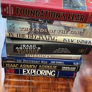Lot# 125- Issac Asimov large Hardcover Book Collection