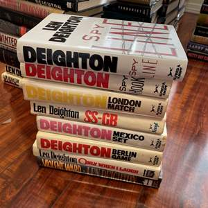 Lot# 129- Larry McMurty and Len Deighton Hardcover Book Collection