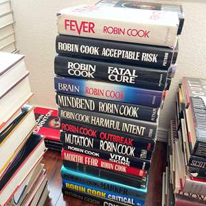 Lot# 133- Robin Cook Hardcover Book Collection