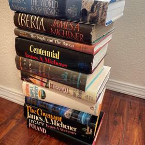 Lot# 134- James A. Michener and Michael Crichton Hardcover Book Collection