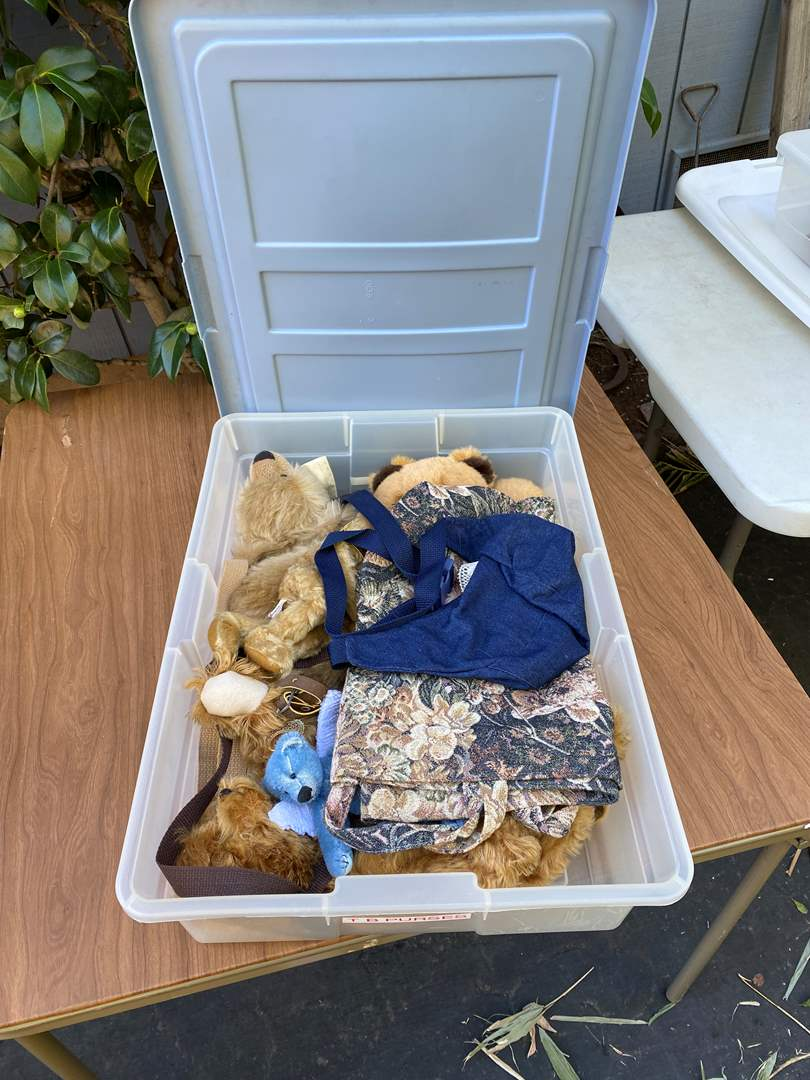 Lot # 7 - 2 Large Totes of Collection of Bears (main image)