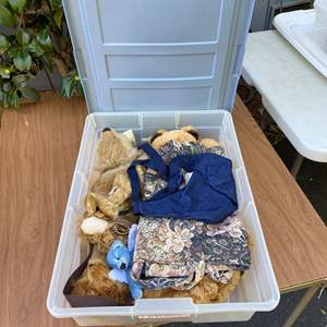Lot # 7 - 2 Large Totes of Collection of Bears