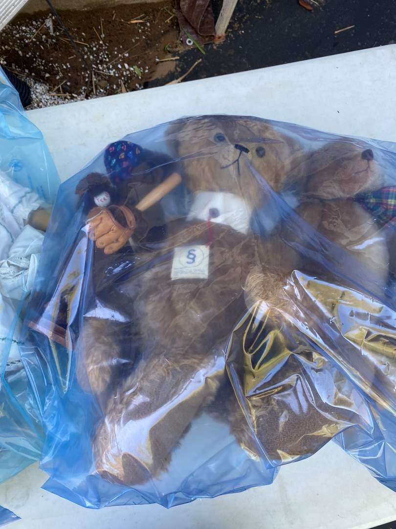 Lot # 8 - 2 Extra Large Totes of Collection of Steve Schutts Bears (main image)