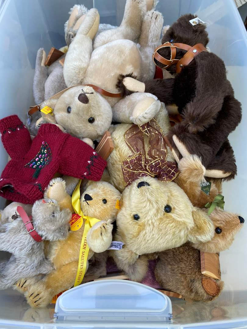 Lot # 9 - Extra Large Tote of Steiff Bears Collection and other (main image)
