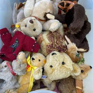 Lot # 9 - Extra Large Tote of Steiff Bears Collection and other