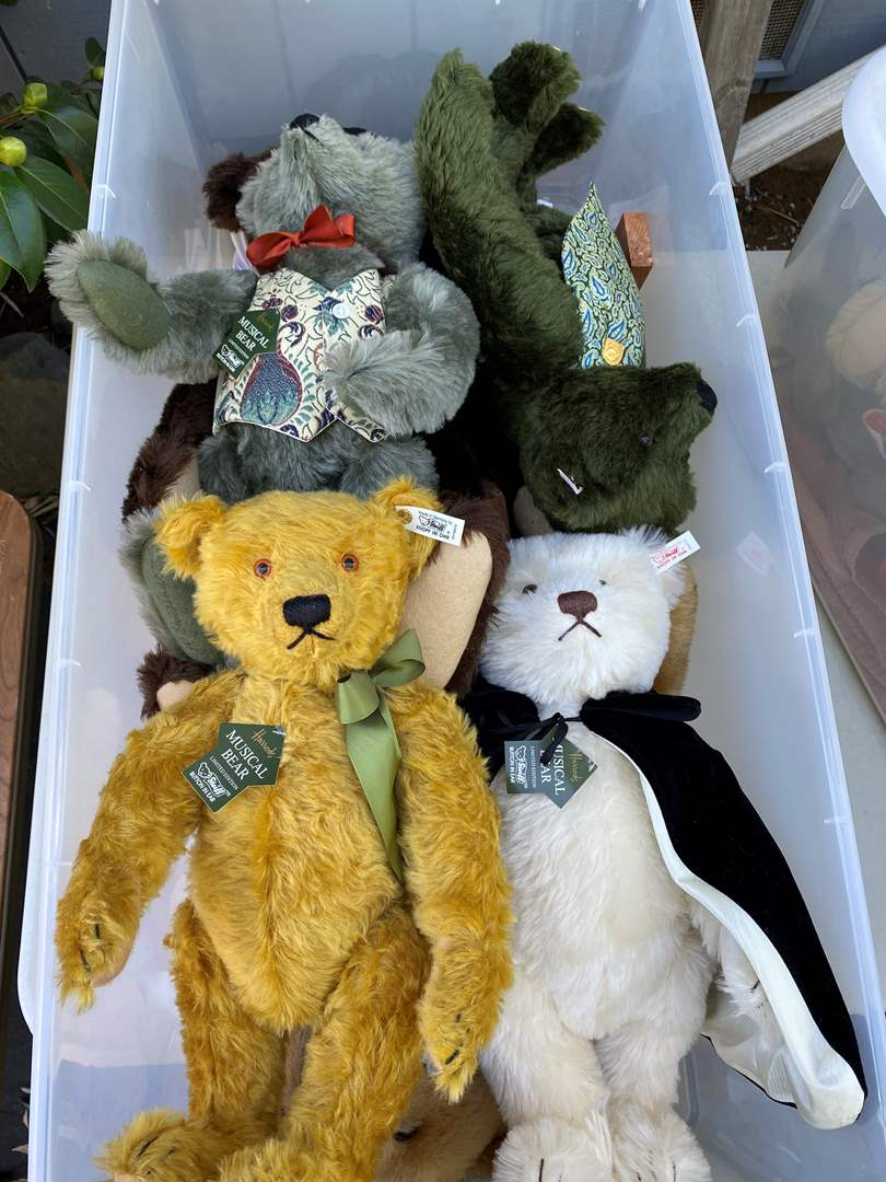 Lot # 10  - Extra Large Tote of Steiff Bears Collection and other (main image)