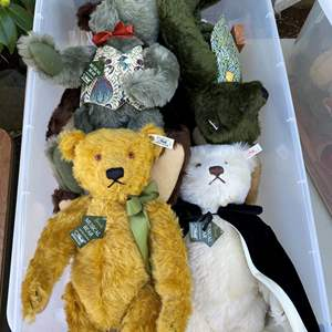 Lot # 10  - Extra Large Tote of Steiff Bears Collection and other