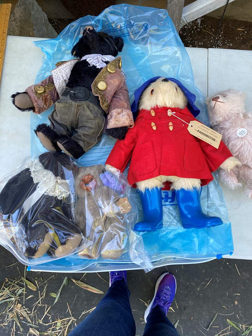Lot # 12  - Large Tote of Steiff Bears Collection and other (main image)