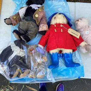 Lot # 12  - Large Tote of Steiff Bears Collection and other