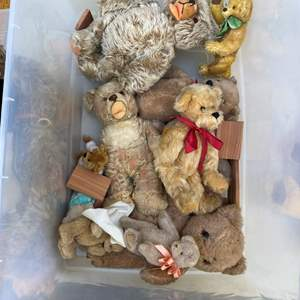 Lot # 14  - Large Tote of Bear Collection and others