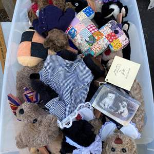Lot # 15  - Extra Large Tote with Steiff Bear Collection and others
