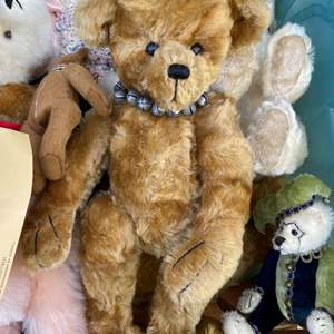 Lot # 17  - Large Tote of Steiff, Harrods Bears and others