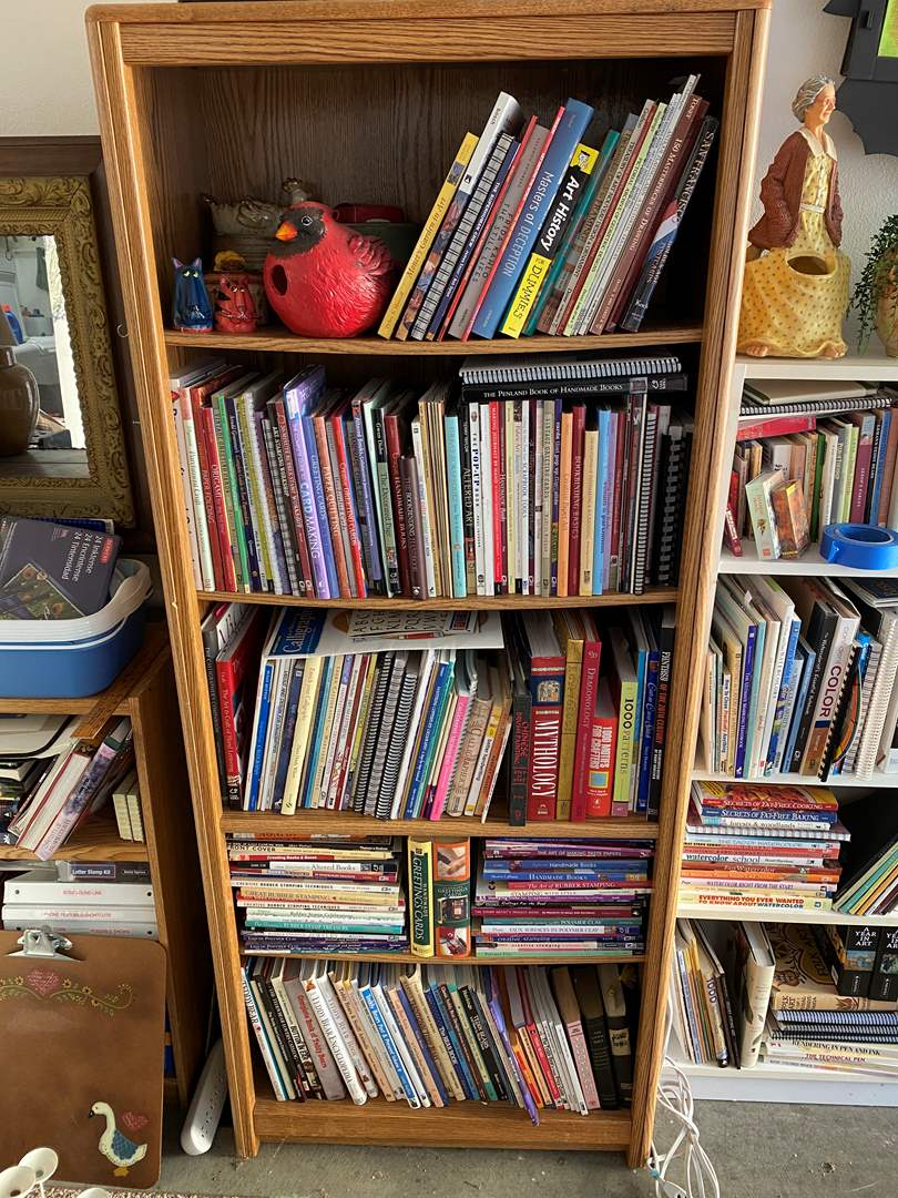 Lot # 23 - Bookcase with Art Books 6ft tall (main image)