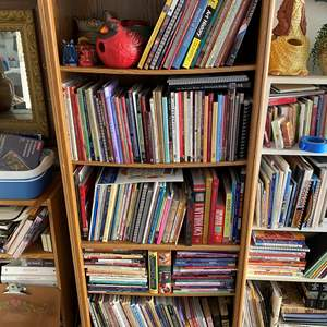 Lot # 23 - Bookcase with Art Books 6ft tall