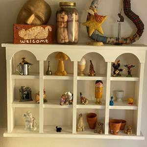 Lot # 25 - Wall Shelf with Contents