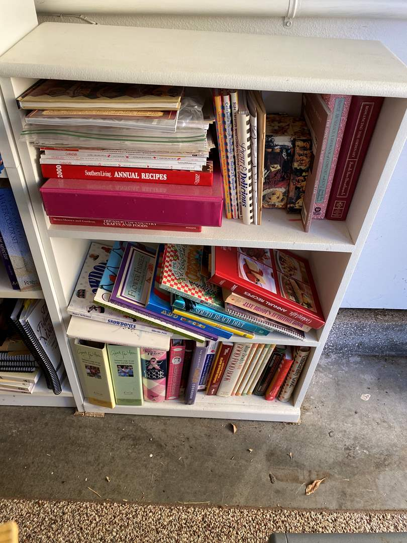 Lot # 26 - Book Shelf with Cook Books (main image)