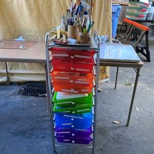 Lot # 33 - Cart FULL of Art Supplies
