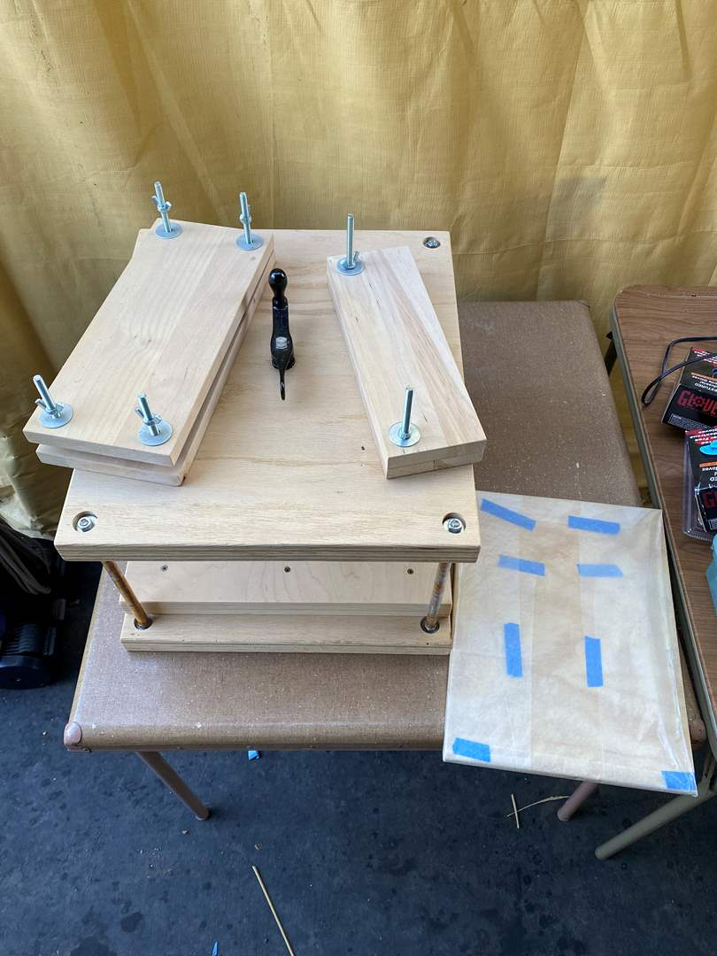 Lot # 38 - Wood block press (main image)
