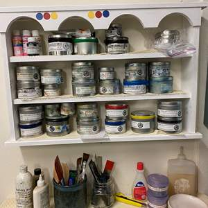 Lot # 40 - Two cabinets full of etching inks and supplies