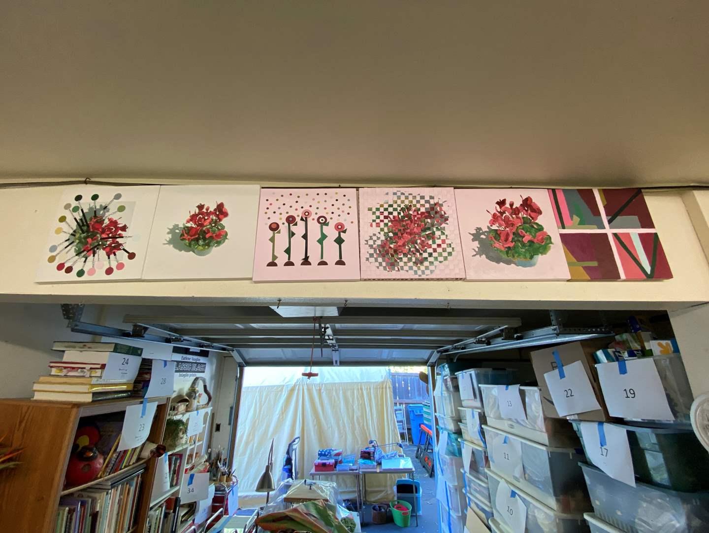 Lot # 44 - Series of 6 original art pieces 12"x12"s (main image)