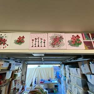 "Lot # 44 - Series of 6 original art pieces 12""x12""s"