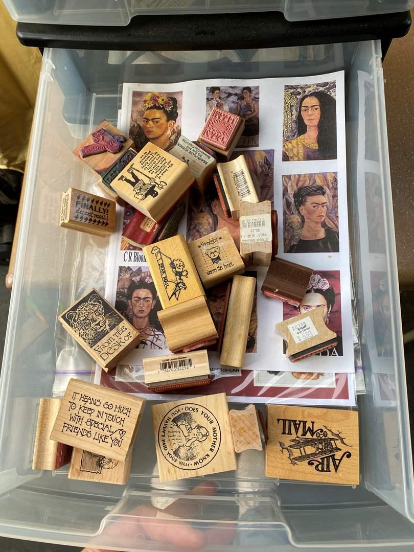 Lot # 72 - Caddy full of art supplies (main image)