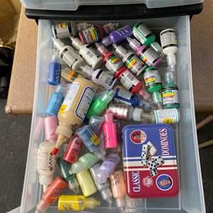 Lot # 73 - Caddy full of art supplies