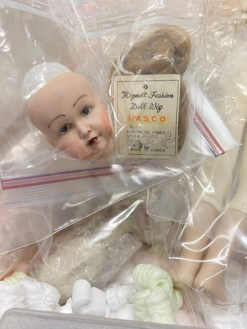 Lot # 78 - Totes Full of Doll making supplies (main image)