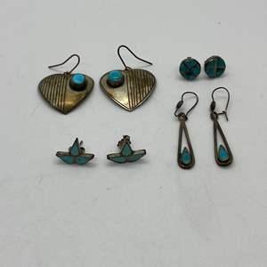 Lot # 110 - Native American Silver Jewelry